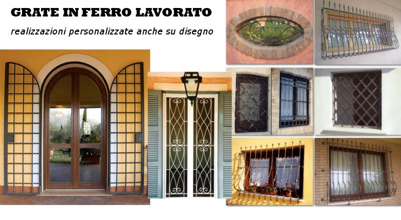 Grate in ferro firenze produzione grate in ferro - Costo finestre doppi vetri ...